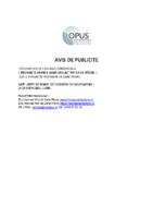 AVIS DE PUBLICITE